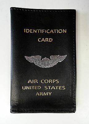 Army Air Corps Pilot'S Identification Card Leather Wallet