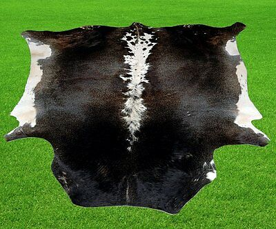 "New Cowhide Rugs Area Cow Skin Leather 16.56 sq.feet (53""x45"") Cow hide MB-7288"