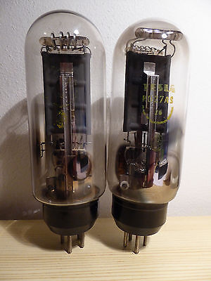 2x (PAIR!) TESLA RD27AS (PX25) Marconi TRIODE, D-GETTER, 100%