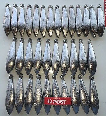 Sinkers 34pcs snapper reef  Mixed 4 and 6oz. Fishing tackle. Lead.