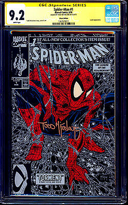 Spider-man #1 SILVER CGC SS 9.2 signed Todd McFarlane 1990 FULL SIGNATURE NM-