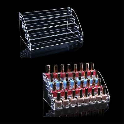 Makeup Nail Polish Acrylic Display Clear Holder Stand Organizer Rack 60 Bottles