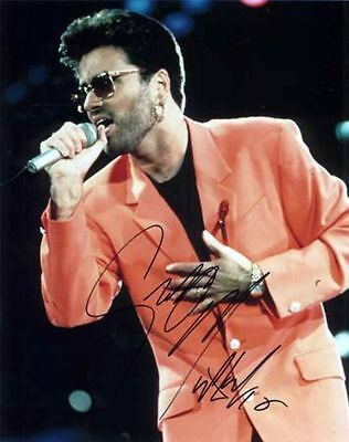 George Michael Autograph Signed Music Photo Preprint Glossy Portrait Picture
