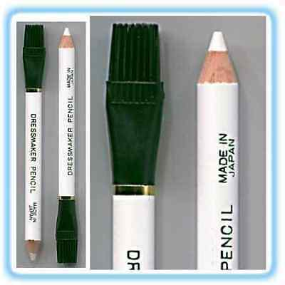 2 X White Tailors Dressmakers Chalk Pencils-Good Quality- Free Uk Postage
