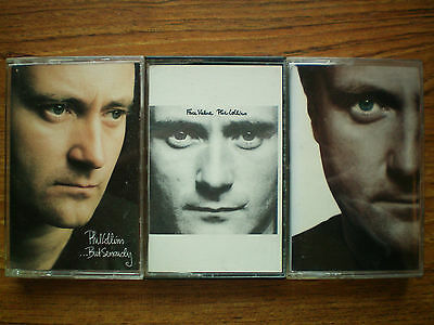 Lot Of 3 PHIL COLLINS Cassettes  But Seriously Face Value Both Sides