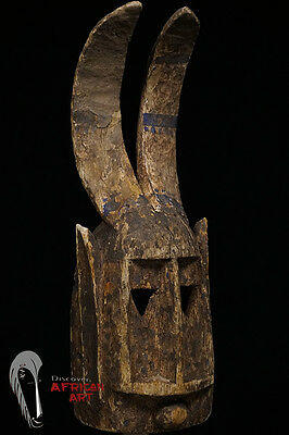 Discover African Art Dogon Gomintogo Antelope Mask with Custom Mount