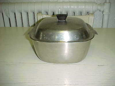 Vintage Sears Square Stainless Steel Sauce Chafer Baking Pan & Lid Maid of Honor