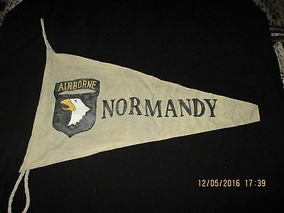 Wwii Us Army 101 St Airborne Div D-Day Normandy Banner  Flag