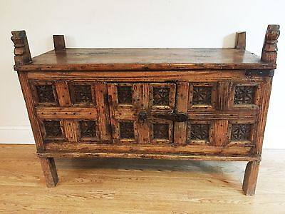 Antique 19th Century Middle Eastern Marriage Chest Coffer Trunk