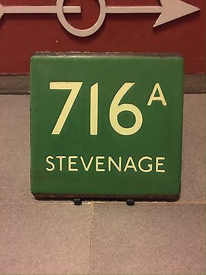 London Transport Bus Stop E-Plate Green Line 716A Stevenage