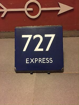 London Transport Bus Stop E-Plate Green Line 727 Express Route