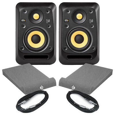 KRK V4S4 (Pair) With Isolation Pads & Cables