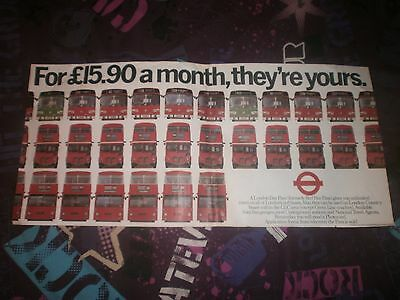 London Transport Routemaster Interior Poster-£15.90 Bus Pass