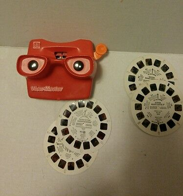 Vintage Viewmaster With Real Ghostbusters & Super Mario 2(2 Of Each)