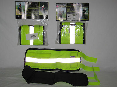 ONE PACK Equestrian Hi Vis Leg Boots Fluorescent Yellow