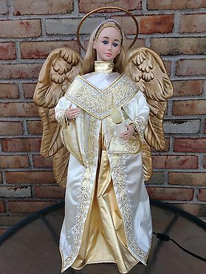 "24"" 1998 Holiday Creations/Telco Animated Motion-nett Lighted Christmas Angel"