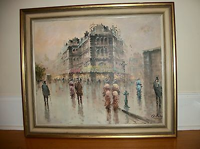 Cortese Original Oil On Canvas  Landscape Cityscape Painting Signed Framed