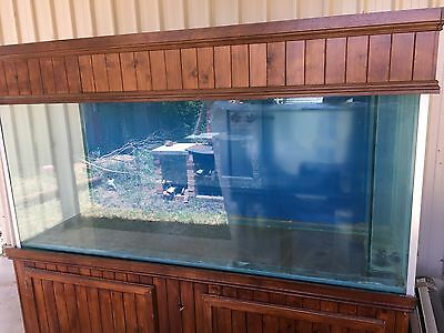 Marine Aquarium, 6' x 2' x 2.5' With Hood, Cabinet and Some Accessories