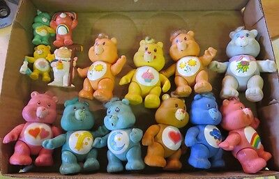 Lot of (10) Vinyl Poseable Care Bears & (3) PVC Care Bears with Cloud Keeper