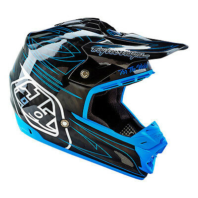 Troy Lee Designs – SE3 Doubleshot Blue Composite Helmet - Medium