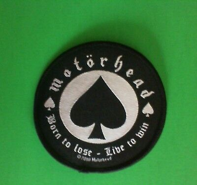Lot of 3 Motorhead Born to Lose Iron On Patches! Brand New Lemmy Metallica