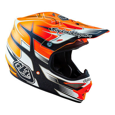 Troy Lee Designs – Air Starbreak Orange Helmet - X-Large