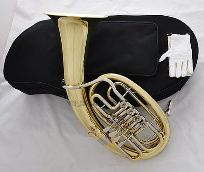 Professional JINBAO Gold 4 Rotary Valve Euphonium Bb horn White Copper Cylinder