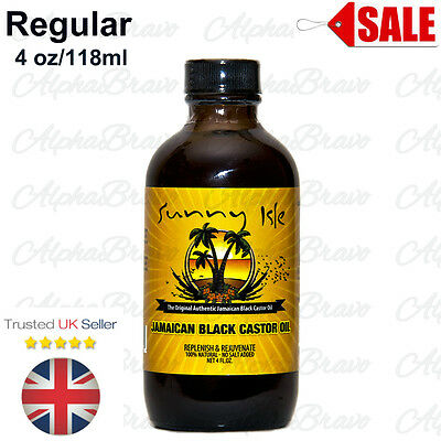Sunny Isle Jamaican Black Castor Oil Regular 4 oz /118ml UK Seller Free Delivery