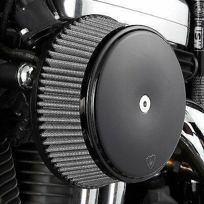 Arlen Ness Black Stage 1 Big Sucker Air Stainless Filter w/ Cover Harley 08-16