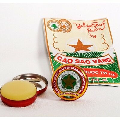 10 Boxes x3g Golden Star Aromatic Balm, Cao Sao Vang Ointment, TW3 Vietnamese