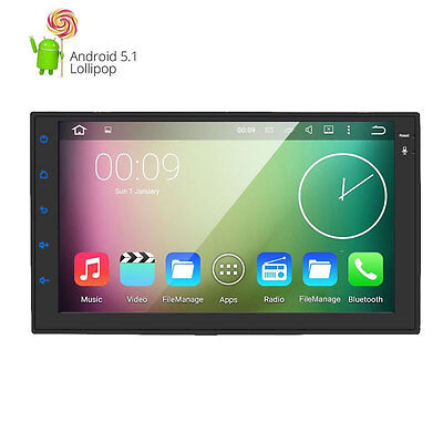"QUAD-CORE Double 2Din Android 5.1 Car Stereo Radio 7""Touch GPS USB NO DVD DAB+"