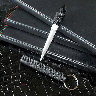 Kubotan Kubaton Survival Military Hiking Hunting Camping Key Ring Tools + Sheath