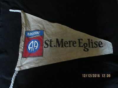 Wwii Us Army 82 Nd Airborne Division St.mere Eglise Campaign  Banner  Flag