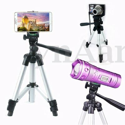 Flexible Portable Aluminum Tripod Stand For Canon Nikon DSLR Camera 300g Height