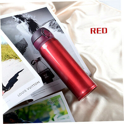 500ML Double Layer Stainless Steel Insulated Cup Anti-Leak Travel Coffee Mug XX