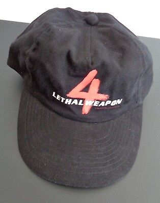 LETHAL WEAPON 4 Movie Promotional Crew Hat Cap 1998 Snapback FREE SHIP Vintage