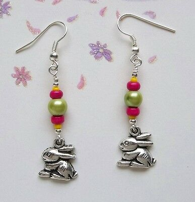 Spring Bunny  ~ Beaded Earring Jewelry Making Step by Step Instruction Kit