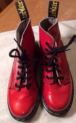 Dr. Martens Size 13 Kid's Red Ankle Boots Made in England