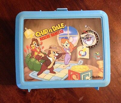 Chip n Dale Rescue Rangers Disney 1980s lunchbox cartoon plastic