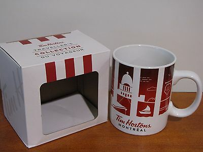 Tim Hortons Canada Montreal Traveller's Collection 2016 Cities Coffee Mug NIB