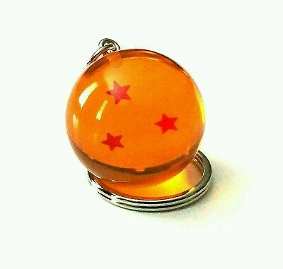 New Dragon Ball Z - 3 Star Keychain keyring 3D! Japanese anime