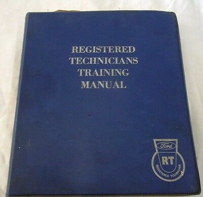 Ford Registered Technicians Training Manual1963-1968