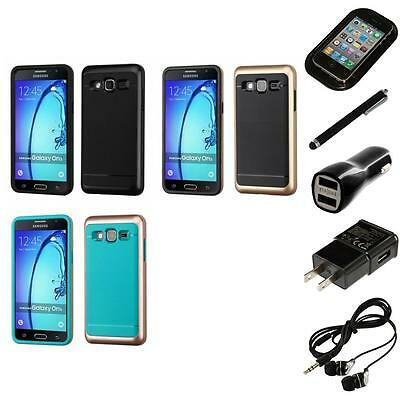 For Samsung Galaxy On5 Hybrid IMPACT Hard TUFF Hybrid Case Cover Headphones