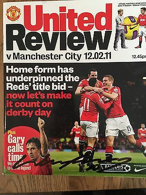 WAYNE ROONEY SIGNED PROGRAMME Manchester Utd B City From His Overhead Kick Game