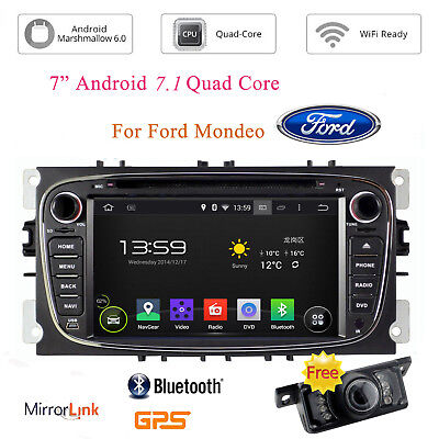 """7"""" 2 Din Android 6.0 Car DVD GPS Navi BT For Ford Mondeo Focus S-Max 2007-2011"""