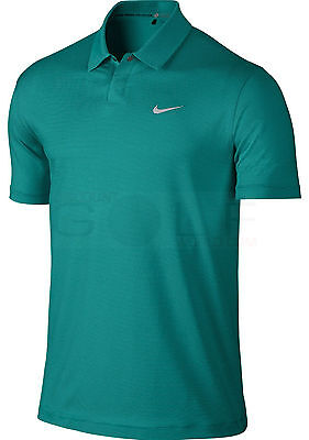 Nike Golf Heather Shirt 648719 309 TIGER WOODS SIZE XL NEW EMERALD WITH STRIPES