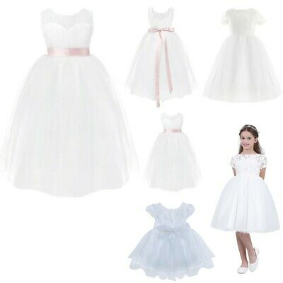 Flower Girl Princess Dress Party Birthday Pageant Wedding Formal Kids Tutu Gown
