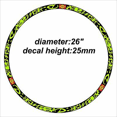 """DEEMAX ULTIMATE STYLE MAVIC """"BLACK & GREEN"""" RIM DECAL SETS for two wheels"""