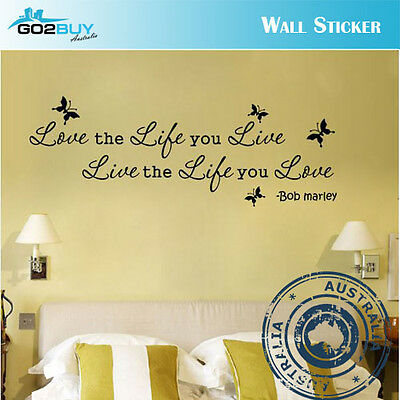 Wall Stickers Removable Love Life Live Living Room Decal Picture Art Decor