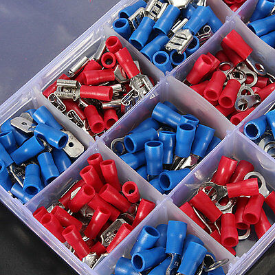 300Pcs Cold-pressed Wiring Cable Terminals Spade Crimp Connector Kit Set